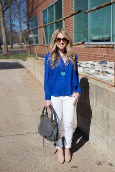 Blue, White, and Gray - Mix & Match Fashion