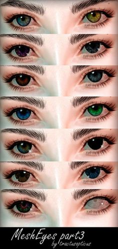 """tractusopticus: """" ❥ accessory, but work with some eyes sliders ❥ don't recolorable ❥ heterochromia ❥ credits: Skyrim. don't know who the author, I'm sorry ❥ pls, tag me if you use it DOWNLOAD !Please,..."""