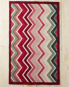 Holiday Flame Hooked Wool Rug