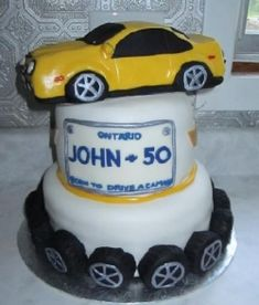 Here is a tutorial on how to make a cake car . I was recently asked to make a cake car topper for a 50th birthday cake. I have a hard time drawing...