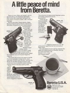 1985 Beretta Pistol Ad Model 20 90 84 Handgun Gun Photo Advertising | eBay