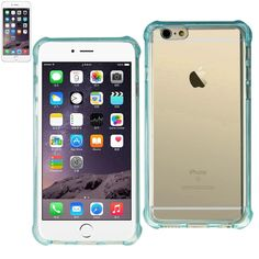 Reiko Iphone 6 Plus-6S Plus 5.5Inches Transparent TPU Case With Air Cushion Shock Absorption Technology In Clear Navy