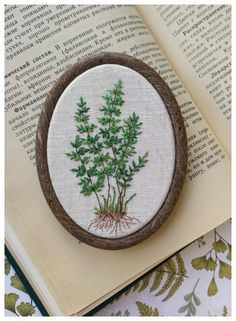 Embroidery art, embroidery hoop, home decor, hoop art by Parapelson Embroidery Hoop Decor, Embroidery Art, Embroidery Designs, Crafty Craft, Fabric Art, Ferns, Trees To Plant, Artsy Fartsy, Fun Crafts