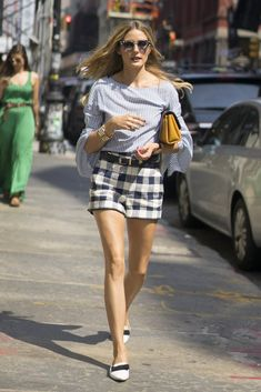 Olivia Palermo  palid shortsNew York Fashion Week Street Style Spring 2017 | POPSUGAR Fashion