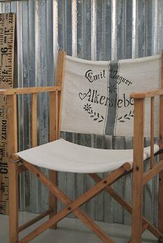 grain sack directors chair