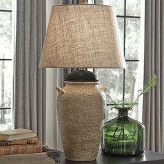 Dargiana Ceramic Table Lamp   Beige   (Set Of   By Ashley Furniture  Signature Design