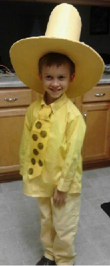 How to Make a Man In The Yellow Hat Kid Costume...read across america