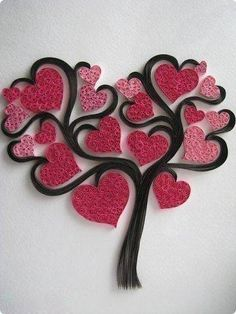 Do All Sorts of Fun with Paper Quilling and Quilling Art Trees? Items similar to handmadeItems similar to handmade Handmade Items similar(Notitle) Do All Sorts of Fun with Paper Quilling and Quilling Art Trees? Arte Quilling, Paper Quilling Designs, Quilling Paper Craft, Quilling Patterns, Paper Crafts, Quilling Ideas, Quilling Work, Diy Paper, Valentine Day Crafts