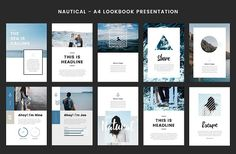 Nautical - A4 Printable PowerPoint - Presentations #summer #vacation