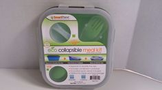 Smart Planet Ec-34s Small Collapsible Eco Silicone Food Meal Lunch Box Green  #SmartPlanet