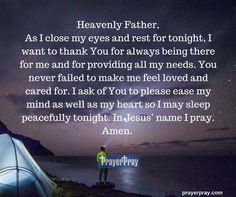 A Prayer Before Going To Sleep