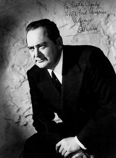 Edward Arnold 1890 - 1956. 66; actor. Autobiography, Lorenzo Goes to Hollywood 1940.