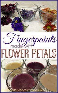 Flower Petal Fingerpaint - a fun sensory art and science activity