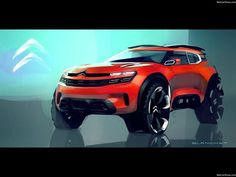 Citroen Aircross Concept sketch