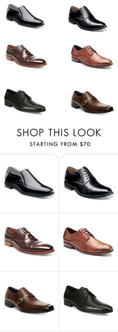 """Untitled #6"" by oscarrr on Polyvore featuring Florsheim, Nunn Bush, Steve Madden, Apt. 9, Salvatore Ferragamo, men's fashion and menswear"