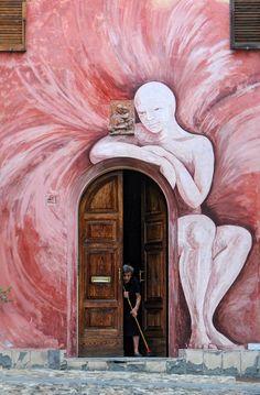 Street Art - Mural in Dozza, Italy