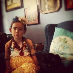 Frida Kahlo little doll. 4th Annual Modern Kiddo We Love Homemade Costumes Parade! – Modern Kiddo