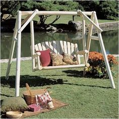 Found it at Wayfair - Porch Swing with Stand