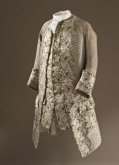 Man's Coat and Waistcoat, France, circa 1750, Silk cut, uncut, and voided velvet (ciselé) with metallic-thread supplementary weft patterning | LACMA Collections