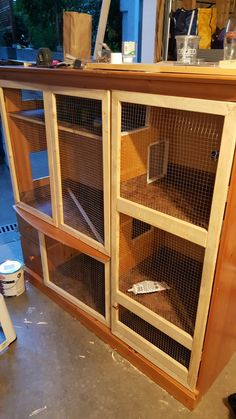 Upcycled DIY bunny hutch out of an entertainment center ...