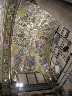 Mosaici della volta absidale-scarsella del battistero di San Giovanni a Firenze