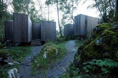 Juvet landscape hotel - first phase  Juvet Landscape Hotel is located at Valldal, near the town of Åndalsnes in north-western Norway. Passing tourists are attracted by a spectacular waterfall in a deep gorge near the road, Gudbrandsjuvet. The ...