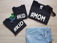 "TShirt ""#MOM"" & "" #KID""  Tshirt - Fashion funny slogan sassy cute top door SasCreationsStore op Etsy"