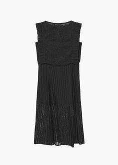 Blond-lace jersey dress | MANGO
