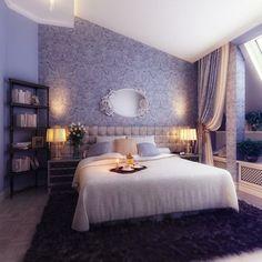 attraktive wandgestaltung schlafzimmer dachschrge gesteppter kopfteil - Farbe Schlafzimmer Dachschrge