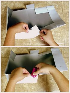 How to turn a shirt box lid into its own gift box. → LOL, I did recognize my hands. Thanks for pinning my article on EcoScrapbook!