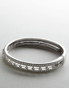 Crystal track bangle bracelet! #lordandtaylor #jewelry