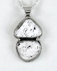 Authentic Native American White Buffalo Pendant by Navajo Lena Platero