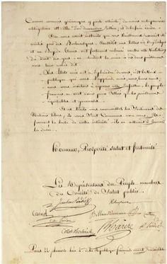 Letter to George Washington from the Comité de Salut Public (source Christies)