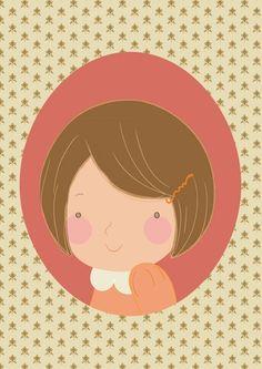 little girl portrait limited edition signed by artist Liten jente portrett Signert trykk Digital Print, Limited Edition Prints, Pattern Design, Little Girls, Barn, Photoshop, Portrait, Artist, Illustrations