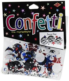 Beistle CN088 Soccer Star Confetti * Check out the image by visiting the link.Note:It is affiliate link to Amazon.