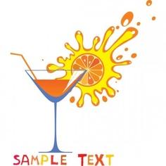 cartoon high glass and juice 03 vector
