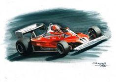 1977 Ferrari 312T2, Niki Lauda, Carlos Reutemann