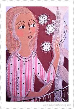 Sublime Stitching ® - Constance Howard - The Little Needlework Teacher with Green Hair -