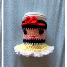 Snow White Coffee Cozy. This is handmade coffee cozy. (aka cup or mug warmer) inspired by the Disney Princess Snow White. Perfect for any Snow