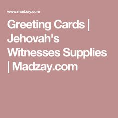 Pin by janie flores on every day greetings pinterest jehovah and greeting cards jehovahs witnesses supplies madzay m4hsunfo