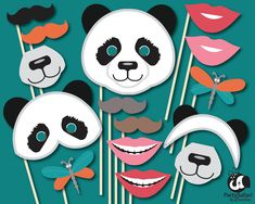 Panda Bear Printable Photo Booth Props | Panda Themed Photo Props | INSTANT DOWNLOAD | Party Safari By Candace par PartySafariByCandace sur Etsy https://www.etsy.com/ca-fr/listing/265998760/panda-bear-printable-photo-booth-props