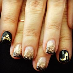 The crown and shoe are pretty stupid, but the ombre nails are super pretty!
