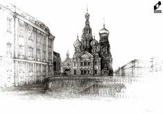 St. Petersburg made in DOMIN Radom drawing school by Nina Tomczak/ Petersburg wykonany w szkole rysunku DOMIN Radom przez Ninę Tomczak https://web.facebook.com/DominRadom?_rdr