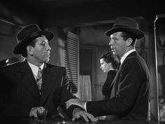 "Mike Mazurki and Dick Powell in the great 1944 film noir classic ""Murder My Sweet."""