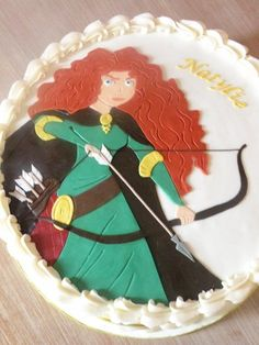 Brave Birthday Party Merida cake