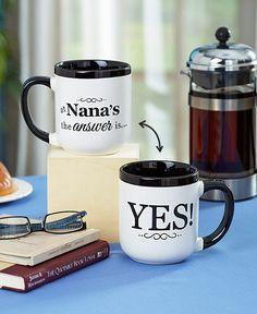 Coffee Mug Grandma Nana Mimi GiGi The Answer is Yes Great Gift Ceramic Humor NEW