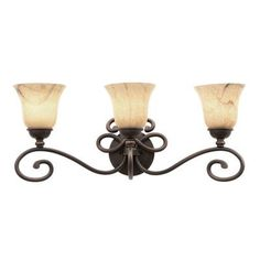 Kalco Amelie 3 Light Vanity Light Shade Type: Stone - 1577, Finish: Tortoise Shell