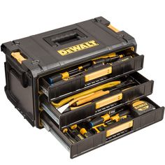 DeWalt DS295 Tough System Three Drawer Parts Tool Box