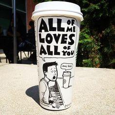 Coffee Cup Cartoons: http://www.langweiledich.net/kaffeebecher-cartoons/
