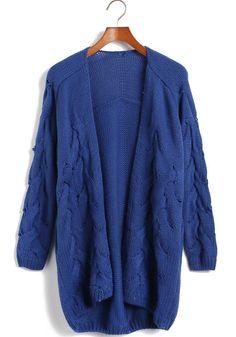 Jersey punto mangas largas-Azul EUR€23.89